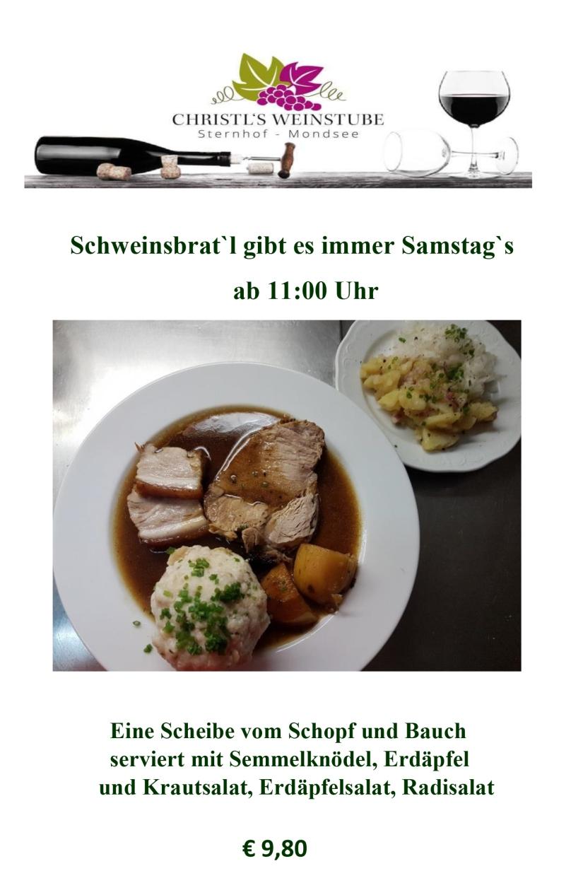 Schweinsbraten - Samstag 2019